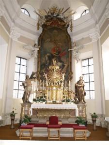 © Pfarre Aspersdorf - J. Schinagl | Pfarrkirche Aspersdorf | Hochaltar