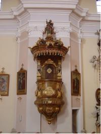 © P. Dominic OSA | Pfarrkirche Aspersdorf | Kanzel