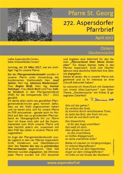 272. Aspersdorfer Pfarrbrief | April 2017