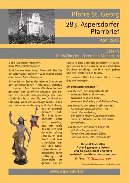 283. Aspersdorfer Pfarrbrief | April 2018